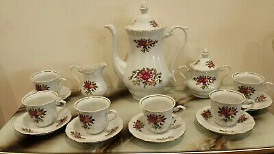 Vintage Tea/coffee Set made in Poland( 15 items )
