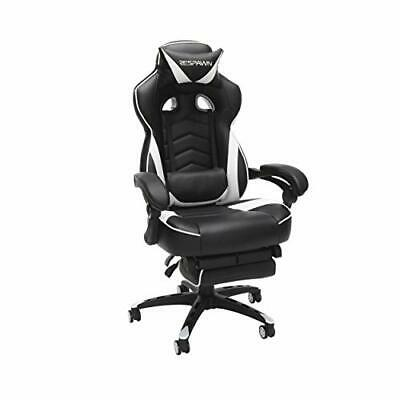 RESPAWN 110 Racing Style Gaming Chair, Reclining Ergonomic Leather Chair White