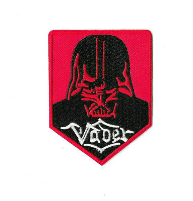 RED DARTH VADER Iron on / Sew on Patch Embroidered Badge Movie Star Wars PT579
