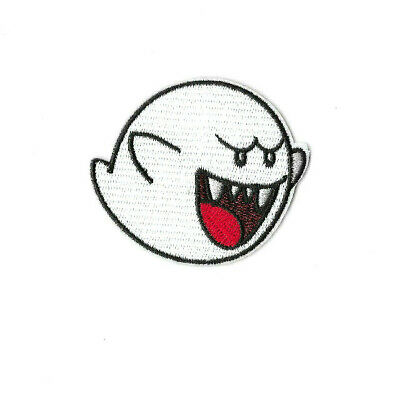 BOO GHOST Iron on / Sew on Patch Embroidered Badge Super Mario PT583