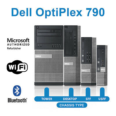 Dell Optiplex 790 Desktop Computer Quad Core i5 16GB RAM HDD/SSD Windows PC WiFi