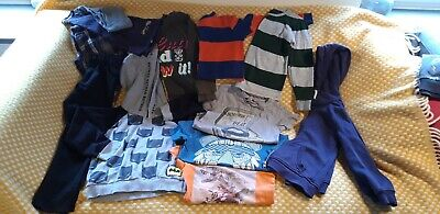 Boys clothes Bundle Age 5 - 6 hoodies t shirts long sleeved tops pjs black jeans