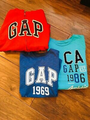 GAP Boys Bundle, One Red Hooded Jacket and Two T-Shirts, aged 12 years