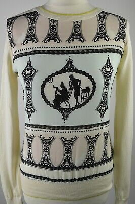 Beautiful women's Ted Baker cream white victorian style long sleeved jumper XS 1