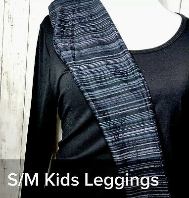 Lularoe Kids S/M Leggings~NWT~NEW Print~Black Ombré Stripes~FAST Ship
