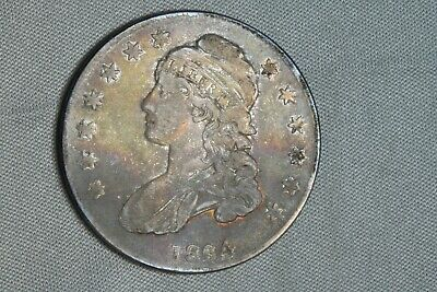 1834 50C Capped Bust Silver Half Dollar Early US Type Coin
