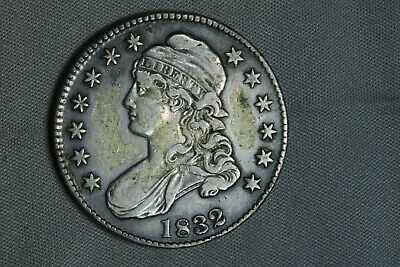 1832 50C Capped Bust Silver Half Dollar Early US Type Coin
