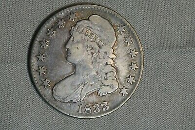1833 50C Capped Bust Silver Half Dollar Early US Type Coin
