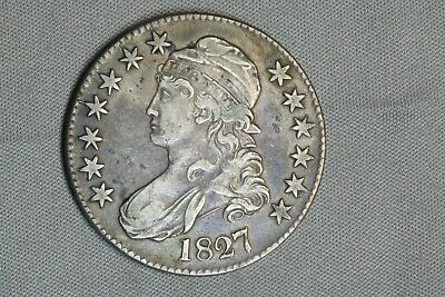 1827 50C Capped Bust Silver Half Dollar Early US Type Coin
