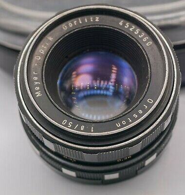Meyer-Optik Gorlitz Oreston 50mm F1.8 M42 Screw Mount Prime Lens Zebra