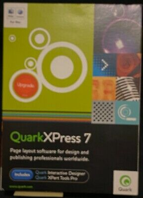 OPEN BOX QuarkXPress 7 for Mac Full Version PN 123838 for OS X 10.4