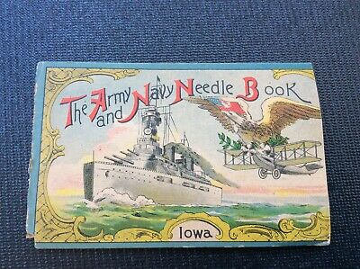 VINTAGE SEWING NEEDLES  THE ARMY AND NAVY NEEDLE BOOK Iowa