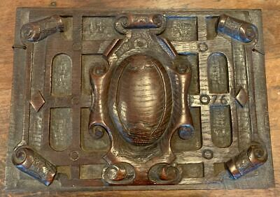 English Oak Carved Panel with 1776