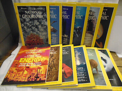Job lot National Geographic magazines 1981 11 issues + Special FREE UK P&P