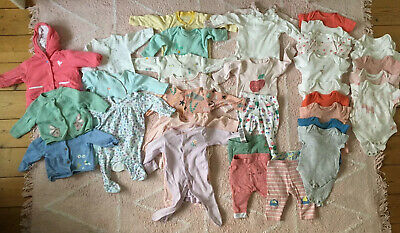 Baby Girl's Clothes Bundle, 0-3 Months. M&S And Next