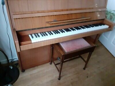 Alexander Hermann Upright Piano with stool