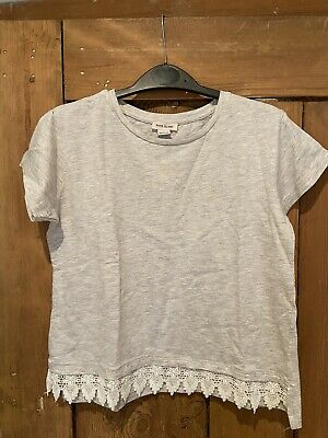 River Island Girls Grey T-shirt Age 9/10 Years
