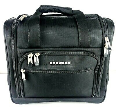 Ciao Black Wheeled Carry On Luggage Rolling  Travel Bag Case Pristine Condition!