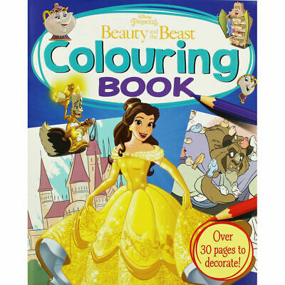 Disney Princess - Beauty and the Beast Colouring Book, Children's Books, New