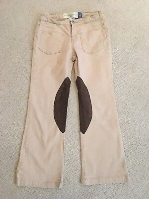 GAP Patch Pocket Boot Cut Beige Trousers Age 7 years