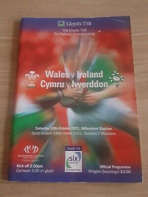 Rugby Wales v Ireland Programme - 13/10/2001