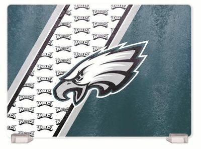 """Tampa Bay Buccaneers Cutting Board Glass Tempered 14/""""x10/"""" with Holders NFL"""