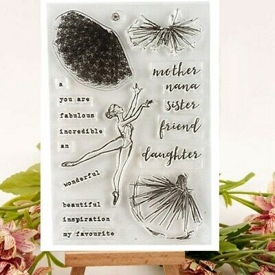 Ballerina Girl Dance Clear Stamps Set Scrapbooking Card Making Cards Mixed Media
