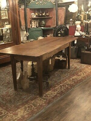 19th Century Country French Farm Table  European Antique