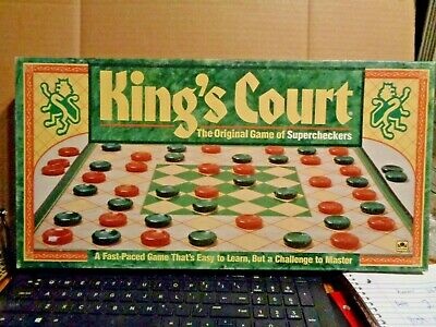 King's Court Super checkers board game 100% Complete Vintage Golden Excellent!