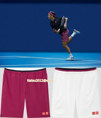 NEW! UNIQLO × Roger Federer Tennis Short pants 2020 Australian open model