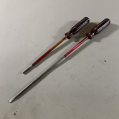 Vintage Turner T.162 & Stanley Ec16208 Sheathed Insulated Slotted Screwdrivers