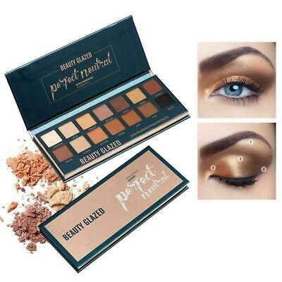 Shimmer Eye Shadow Powder Palette Matte Eyeshadow Cosmetic Makeup Colors 14 V2T0