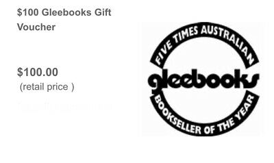 $100 Gleebooks Gift Card Voucher (For Glebe & Dulwich Hill Bookstores & Online)