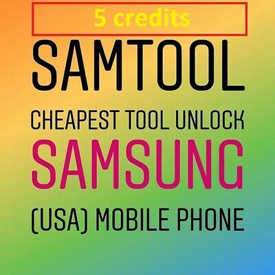 Samtool Server 5 Credits UNLOCK ANY SAMSUNG new account/Refill -Fast Service-