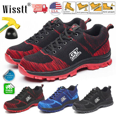 Men's Work Safety Shoes Indestructible Steel Toe Bulletproof Boots Mesh Sneakers