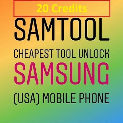 Samtool Server 20 Credits UNLOCK ANY SAMSUNG new account/Refill -Fast Service-