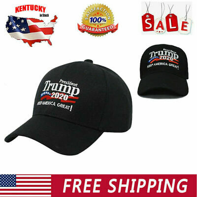Black Donald Trump 2020 Hat Make Keep America Great Again President election Cap