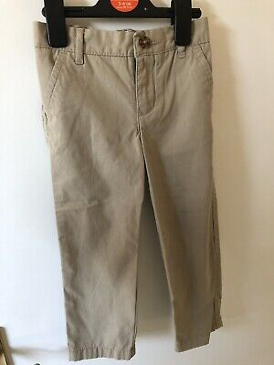 Boys Tommy Hilfiger Beige Trousers With Expandable Waist 3 Years