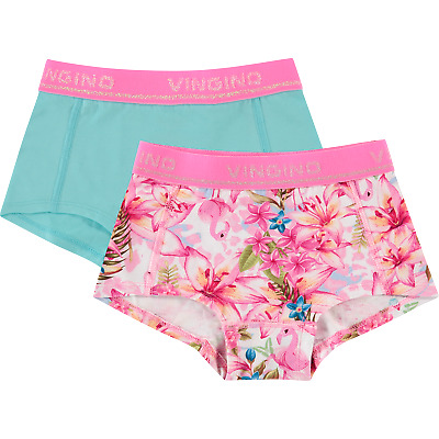 VINGINO UNDERWEAR GIRLS SHORT DOPPELPACK TROPICAL NEU Gr. M /134/140 / 9 / 10 Y