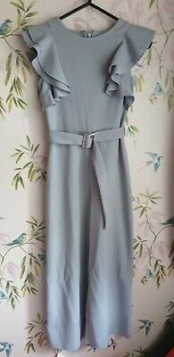 Girls Grey River Island Playsuit Size 7-8 Years.worn once