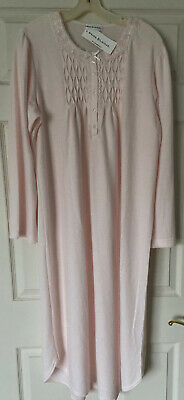 NWT MISS ELAINE Nightgown Gown Soft Cuddleknit Pink Embroidered Size Medium M