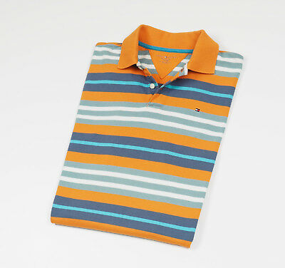 Tommy Hilfiger Boy's striped short sleeved Polo shirt Size XL