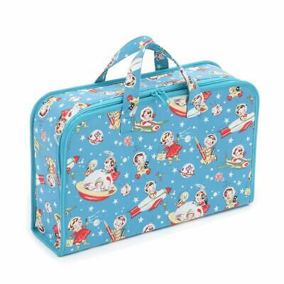 HobbyGift Project Case Storage Bag - Blue Retro Rocket Rascals Design