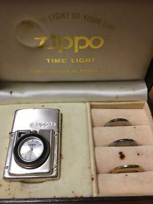 Used ZIPPO TIME LIGHT 4 Kinds Of Dress Up Type Smoking Goods With Clock Rare
