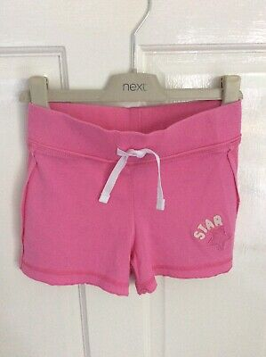 NWOT - Girl's NEXT Pink Jersey Cotton Shorts Age 6 years