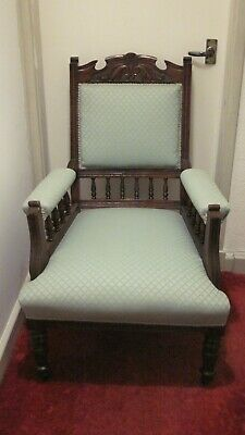 Original Victorian mahogany chair with upholstered seat. Excellent condition.
