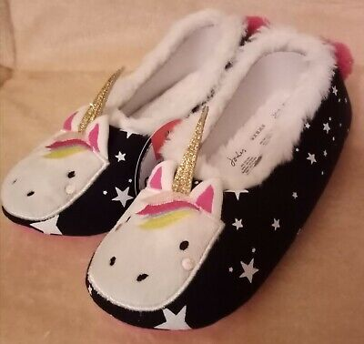 Joules Unicorn Slippers Size UK 1-2 NEW WITH TAGS!  RRP £14.95