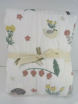 Pottery Barn Kids Ramona Toddler Floral Bunny Quilt #5001