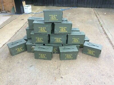 Green Ammo Boxes  50 Calibre. EMPTY No ammo 20 available ,price for one.