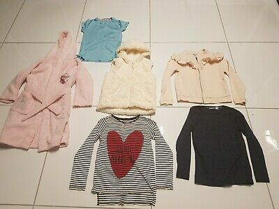 Girls Bundle Frozen Dressing Gown River Island Jacket Tops Aged 7-9
